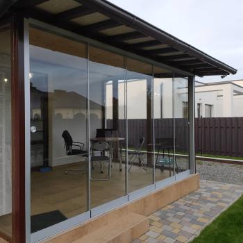 Розсувні двері скляні засклити терасу альтанку якісна ціна виробника