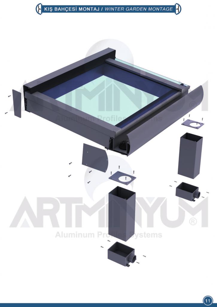 алюмінієвий скляний дах для тераси